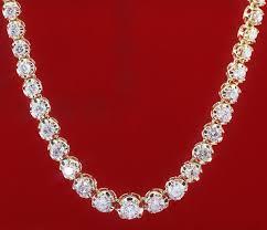 diamond necklace image images Diamond tennis necklace 20 00 ct diamond gold wedding anniversary jpg&a