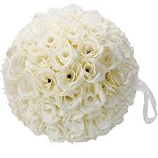 flower balls 10 inch satin flower for wedding party