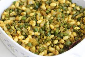 masala green beans stir fried with navy beans daily musings