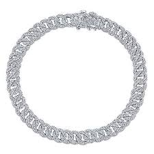 tennis bracelet white images 14k white gold lusso tennis bracelet tb4034w45jj gabriel co jpg