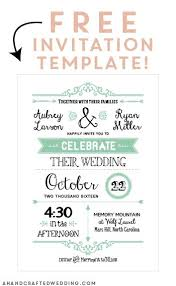 wedding template invitation best 25 printable wedding invitations ideas on
