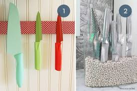 kitchen knives storage toss the block 10 creative ways to store kitchen knives curbly