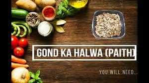 gond ka halwa paith homemade indian traditional gujarati sweet