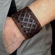 leather wrist strap bracelet images Antique men 39 s brown leather cuff bracelet leather wrist band jpg