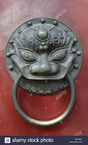 chinese door knocker stock photo royalty free image 16665925 alamy