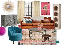 Modern Interior Design Los Angeles Silverlake Modern Bohemian Living Room Lesley Myrick Art Design