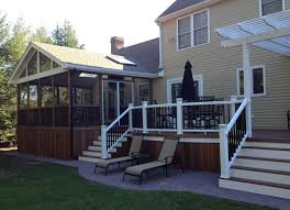 Ideas For Enclosing A Deck by Screened In Deck Design Ideas By Archadeck St Louis Decks