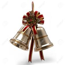decoration bells leaf and ribbon stock photo