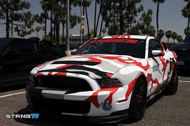 wrapped cars camo wrapped gt500 awaits a high performance future fordmuscle