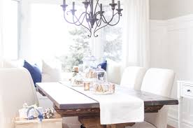 Modern Farmhouse Dining Room Inviting Holiday Dining Room A Burst Of Beautiful