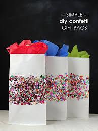 gift wrap bags gift wrap ideas diy confetti bags