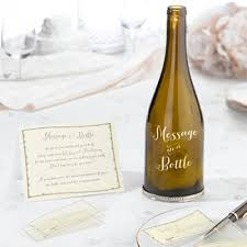 message in a bottle wedding bottle guest signing personalized guest signing bottle message