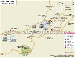 best tourist map of kodaikanal tourist guide map