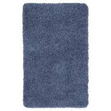 Blue Bathroom Rugs Threshold Chunky Bath Rug Target