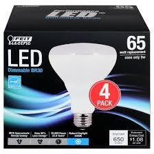 65 Watt Dimmable Led Flood Light Feit Br30 65 Watt Dimmable Led Light Bulb 4 Pack 5000k Soft