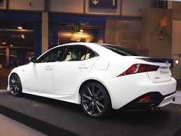 white lexus is250 with black rims 25th anniversary edition lexus is f sport and new rc f rims debut