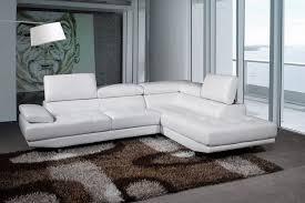 canape cuir blanc angle canapé d angle cuir luxe blanc avec accoudoir et têtières