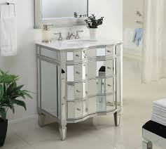 adelina 30 inch mirrored bathroom vanity imperial white marble