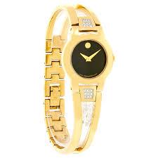 gold ladies bracelet watches images Movado amorosa diamond ladies gold tone bangle quartz watch jpg