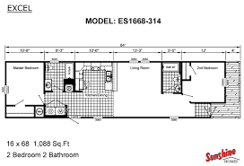 3 bedroom single wide mobile home floor plans dact us