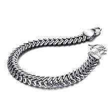 sterling silver bracelet designs images Solid design 925 sterling silver bracelet male vintage thai silver jpg