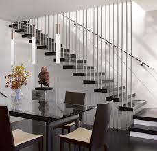 modern elegant design of the modern stairs wooden railing designs
