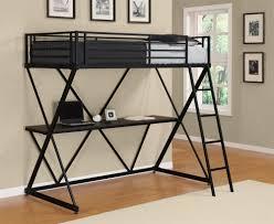 bedroom excellent senon metal twin loft bed workstation picture