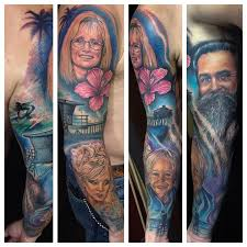 family tribute sleeve by reese tattoonow