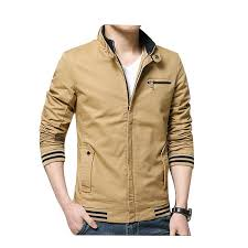 zhhlaixing classic spring men s cotton casual coats stand collar