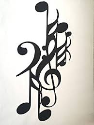 Music Note Decor Bass Clef Music Note Metal Wall Art Decor Amazon Com