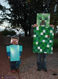 Minecraft Creeper Halloween Costume Steve Minecraft Halloween Costume 20 Creeper Costume Ideas