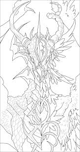 angel demon dragon lineart coloring page by svennah on deviantart