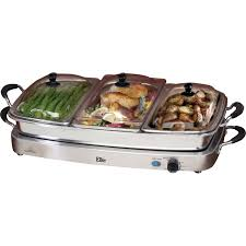 Elite Platinum Stainless Steel Buffet Server by Elite By Maxi Matic Platinum Deluxe 7 5 Qt Stainless Steel