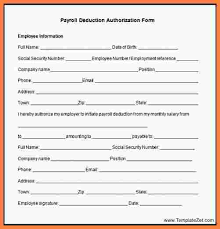8 payroll deduction authorization form template securitas paystub