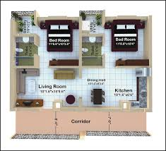 2bhk house design plans property plans for 2bhk home houzone