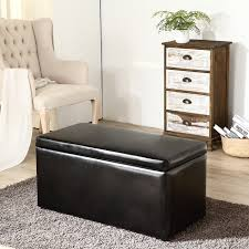 3pc contemporary brown black cream leather tray top nested storage