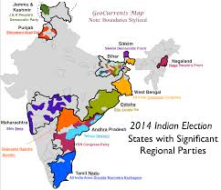 Map Of India With States by A New Political Bifurcation Of India Geocurrents