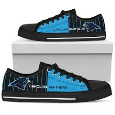 Carolina Panthers Flags Simple Design Vertical Stripes Carolina Panthers Low Top Shoes