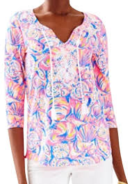 shell blouse lilly pulitzer multi shell of a blouse size 6 s