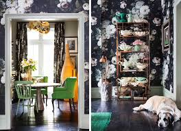 Floral Interiors Ellie Cashman Her Process Her Floral Wallpaper U2014 Decor8