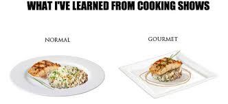 gourmet food normal vs gourmet food
