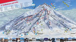 Piste Maps For Italian Ski by St Johann In Tirol Ski Area Piste Maps
