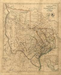 State Of Texas Map by Old Texas Wall Map 1841 Historical Texas Map Antique Restoration
