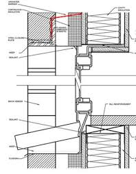 Window Sill Detail Cad Curtain Wall Cad Detail Library Awci Technology Center
