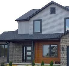 black trim mastic granite grey siding black trim cedar siding accent