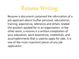 Resume Writing For Job Application by Job Letter U0026 Resume Writing Raw File