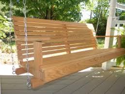 oak porch swings mrocks creative woodworking