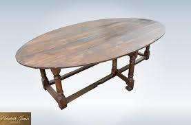 Drop Leaf Oak Table Large Oval Dining Table