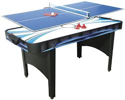 outdoor air hockey table mightymast typhoon 2 in 1 air hockey and table tennis table black