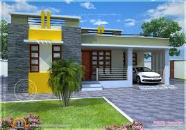 house plan of a small modern villa indian house plans